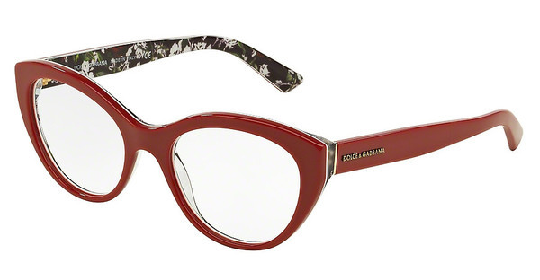 Dolce & Gabbana DG3246 3020 TOP RED/ROSE PRINT