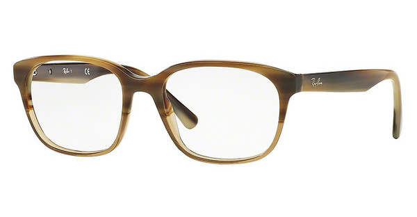 Ray-Ban RX5340 5542 BROWN HORN GRAD TRASP BEIGE