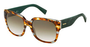 Max Mara MM 0001/S MOU/CC BROWN SFHVGYGRNCR (BROWN SF)