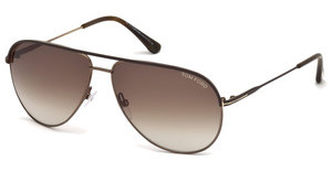 Tom Ford FT0466 49E braunbraun dunkel matt