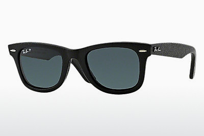 Aurinkolasit Ray-Ban WAYFARER LEATHER (RB2140QM 1152N5) - Musta