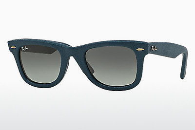 Aurinkolasit Ray-Ban WAYFARER LEATHER (RB2140QM 116871) - Sininen