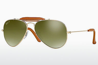 Aurinkolasit Ray-Ban AVIATOR CRAFT (RB3422Q 001/M9) - Kulta, Ruskea