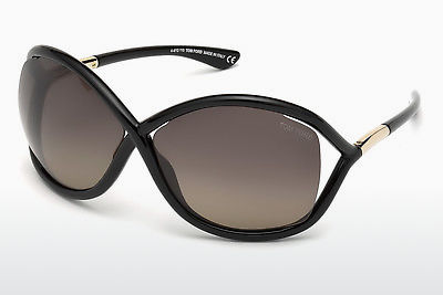 Aurinkolasit Tom Ford Whitney (FT0009 01D) - Musta, Shiny