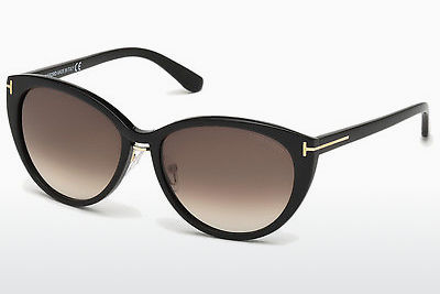 Aurinkolasit Tom Ford Gina (FT0345 01B) - Musta, Shiny