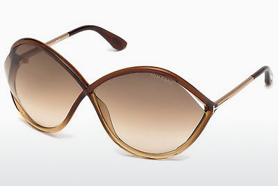 Aurinkolasit Tom Ford Liora (FT0528 50F) - Ruskea, Dark