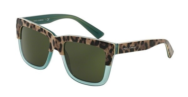 Dolce & Gabbana DG4262 297171 GREY GREENPRINT LEO ON OPAL GREEN