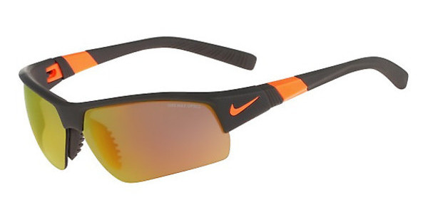 Nike SHOW X2 PRO R EV0806 208 MATTE DEEP PEWTER/TOTAL ORANGE/SHATTER WITH GREY W/ ML ORANGE FLASH /GREY LENS