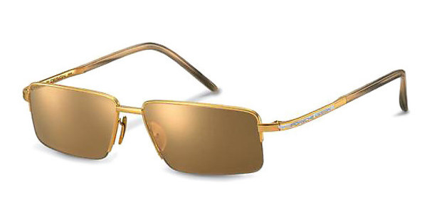Porsche Design P8499 A brown, 24 ct gold mirrored18 ct gold, 900 Pt
