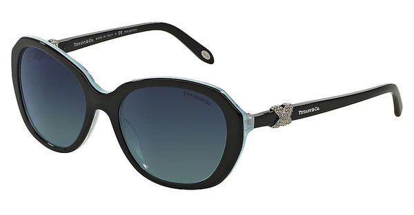 Tiffany TF4108B 81934U POLAR AZURE GRADIENT BLUEBLACK/STRIPED BLUE
