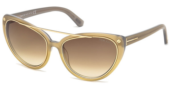 Tom Ford FT0384 34F braun verlaufendbronze hell glanz