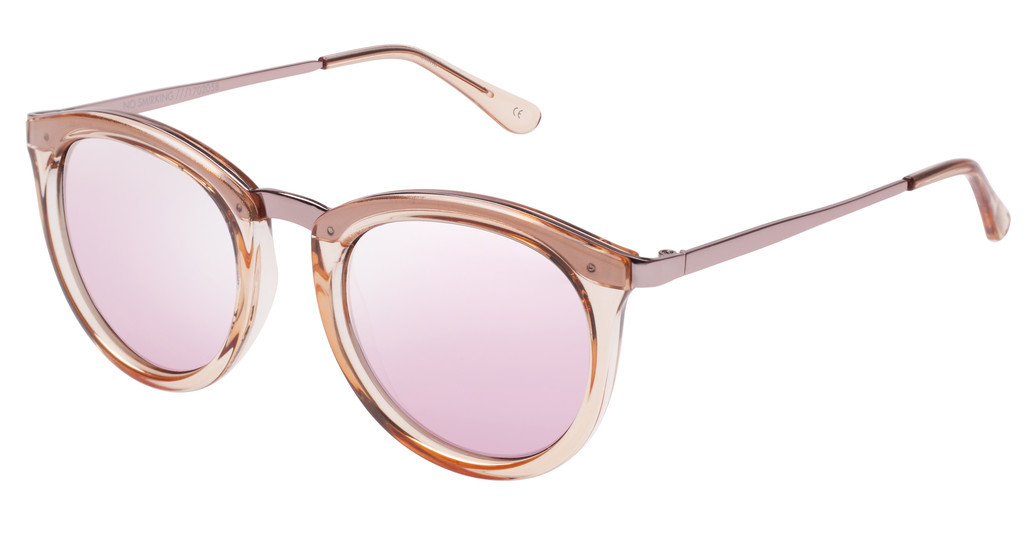 Le Specs   NO SMIRKING x A-STYL LSP1702058 PEACH MIRROR LENSCRYSTAL ROSE