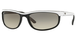 Ray-Ban RB2027 629932 CLEAR GRADIENT GREYTOP WHITE ON BLACK