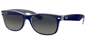 Ray-Ban RB2132 605371 GREY GRADIENTTOP MATTE BLUE ON TRANSPARENT