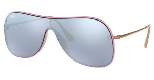 Ray-Ban RB4311N 63611U DARK VIOLET MIRROR SILVERBEIGE ON TOP LILLAC