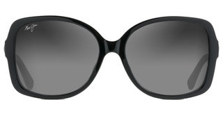 Maui Jim Melika GS760-02 Neutral GreyGloss Black with Silver temples