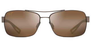 Maui Jim Ola H764-25M HCL BronzeBrushed Matte Brown w/ Dark Translucent Brown Rubber