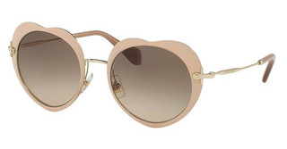 Miu Miu MU 54RS U6I3D0 LIGHT BROWN GRAD LIGHT GREYMATTE PINK