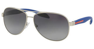 Prada Sport PS 53PS QFP5W1 POLAR GREY GRADIENTSILVER RUBBER
