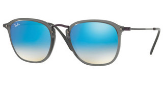 Ray-Ban RB2448N 62554O BLUE FLASH GRADIENTTRASPARENT GREY