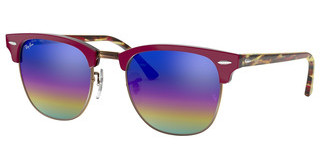 Ray-Ban RB3016 1222C2 LIGHT GREY MIRROR RAINBOW 1METALLIC DARK BRONZE