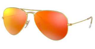 Ray-Ban RB3025 112/4D BROWN MIRROR RED POLARMATTE GOLD