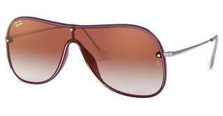 Ray-Ban RB4311N 6375V0 CLEAR GRADIENT RED MIRROR REDBORDEAUX ON TOP BLUE