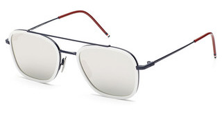Thom Browne TB-800 D Dark Grey - Silver Mirror - ARMatte Navy -White