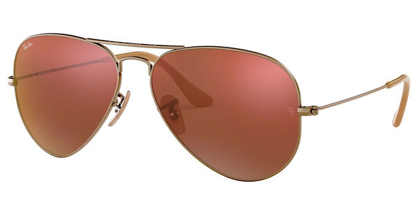 Ray-Ban   RB3025 167/2K RED MIRRORDEMIGLOS BRUSHED BRONZE